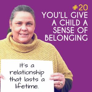 Reason to Foster 20: You'll give a child a sense of belonging